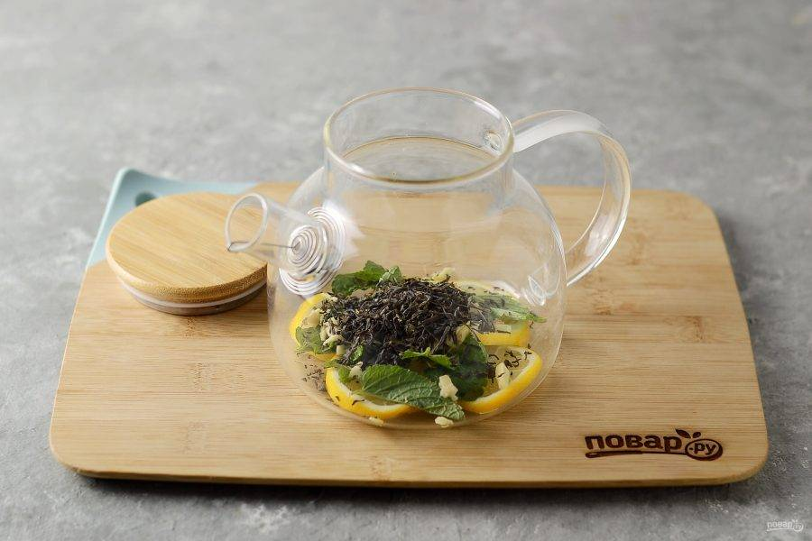 Добавьте зеленый чай.