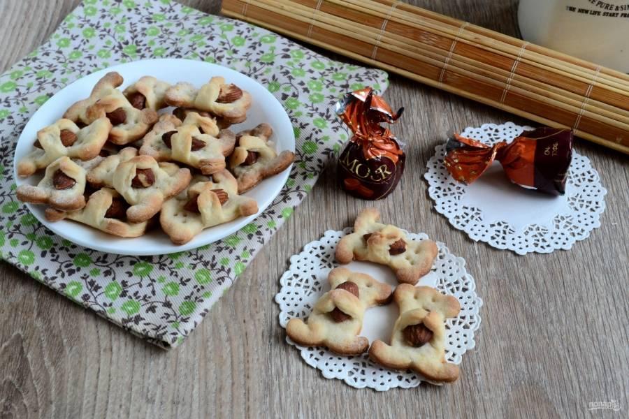 Печенье «Мишки с орешками» готово! Приятного чаепития!
