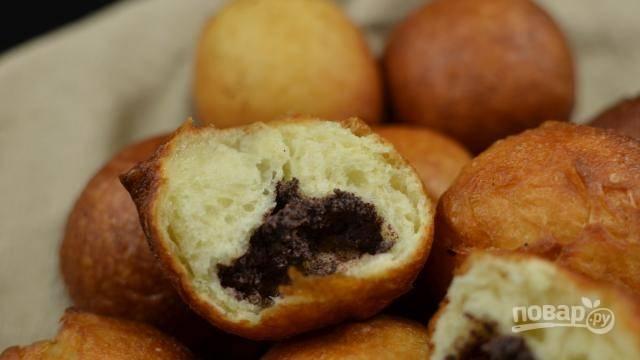 15. Перед подачей пирожки можно присыпать сахарной пудрой. Приятного чаепития!