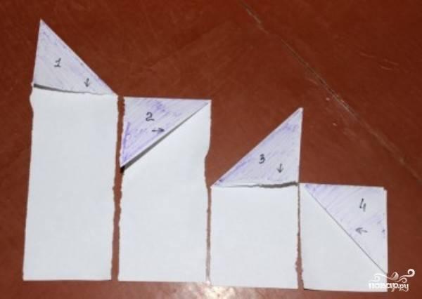 А это схема, как заворачивать лаваш в треугольник. Успехов!