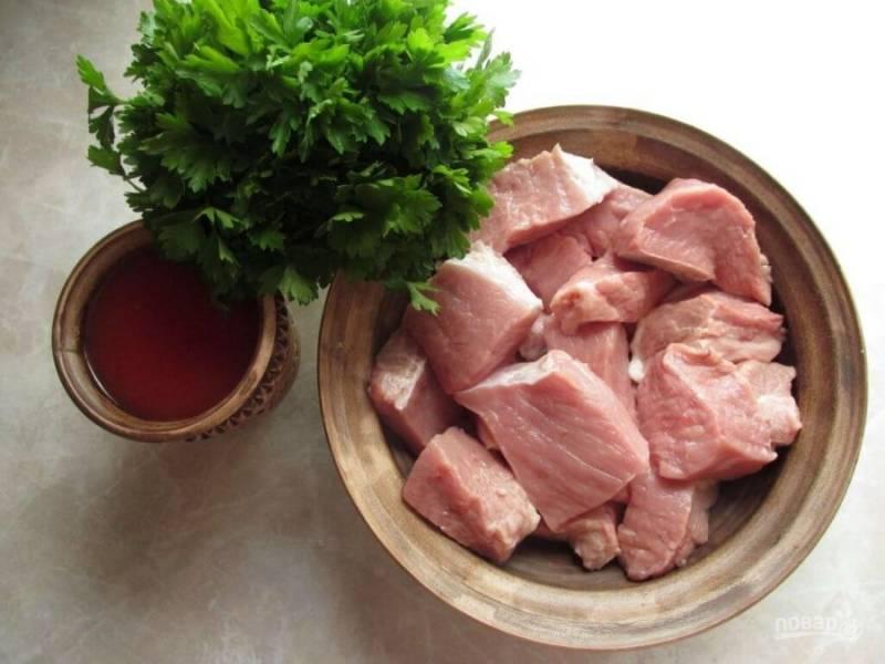 2. Подготовьте продукты для маринада.