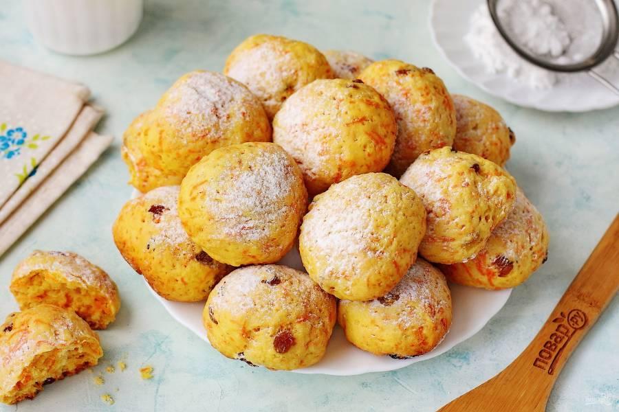 Постное печенье с изюмом