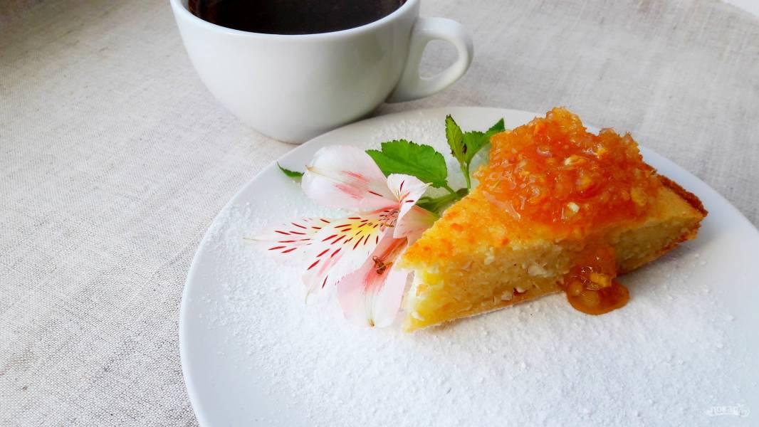 Вкусный пирог с творогом и манкой