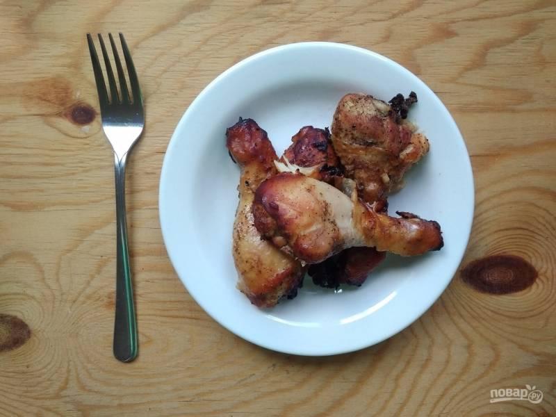 Куриные голени в медово-соевом маринаде