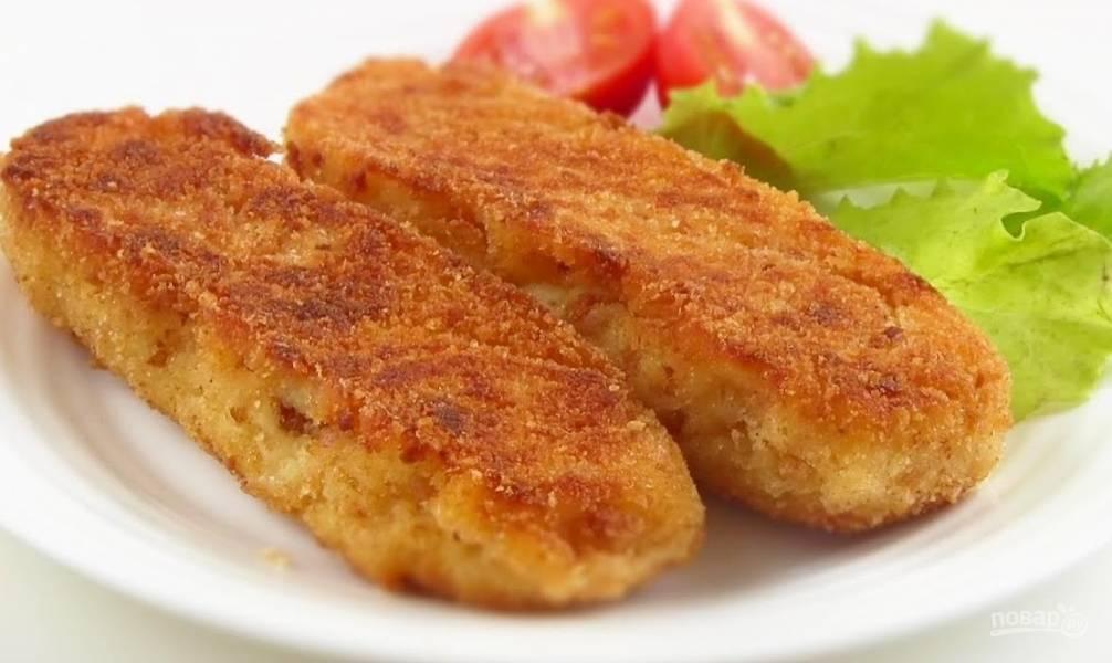 Вкусные картофельные палочки с сыром