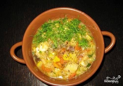 Рагу с мясом и кабачками