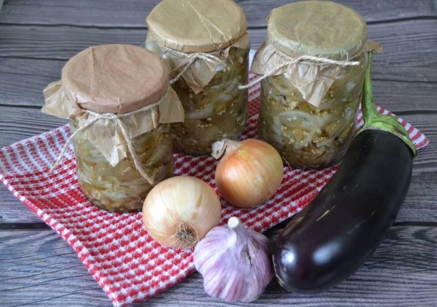 Баклажаны с луком как грибы