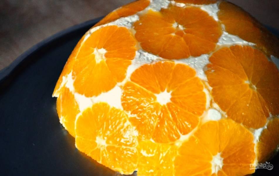 Апельсиновый творожный десерт без выпечки