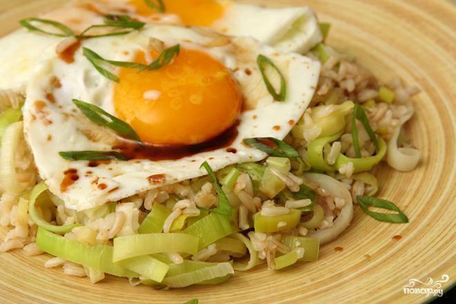 Жареный рис с имбирем