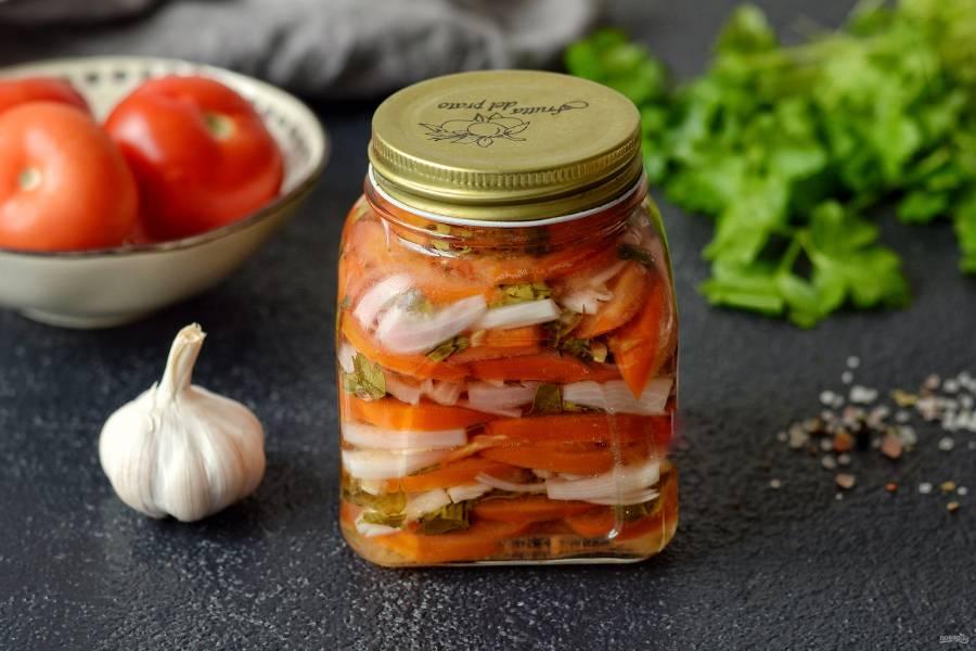 Салат из красных помидоров на зиму