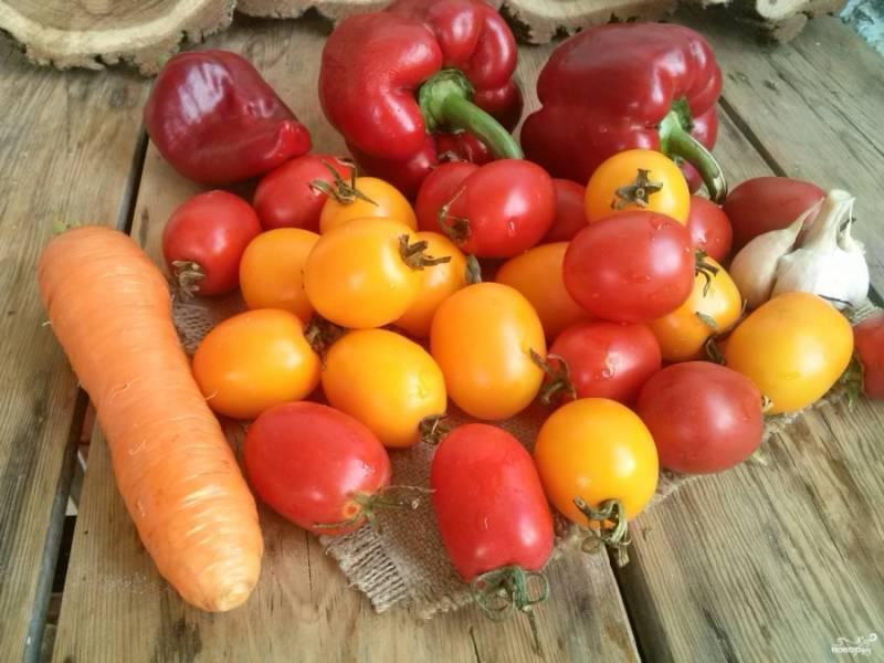 Подготовьте все необходимые овощи.