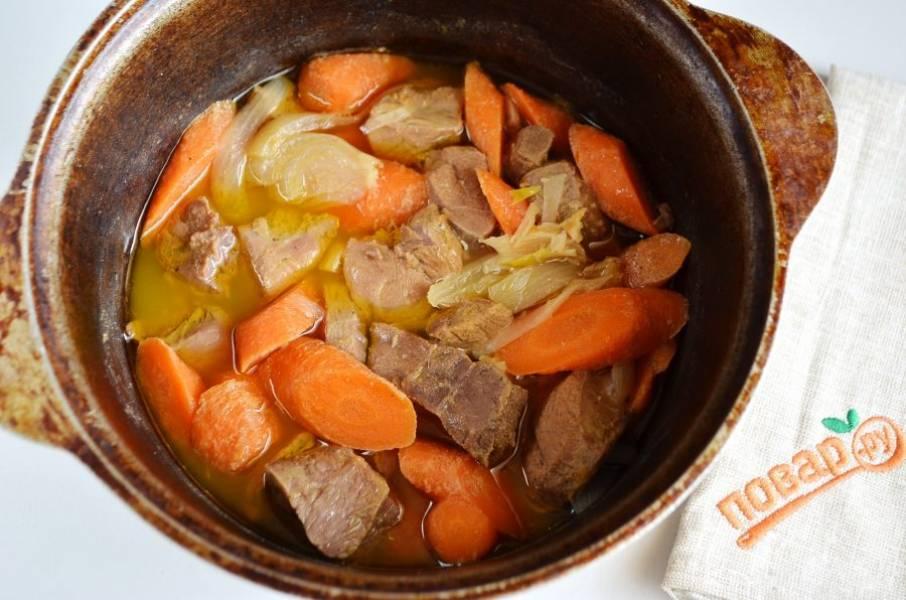 6. Говядина, томленная с морковью в винном соусе готова!