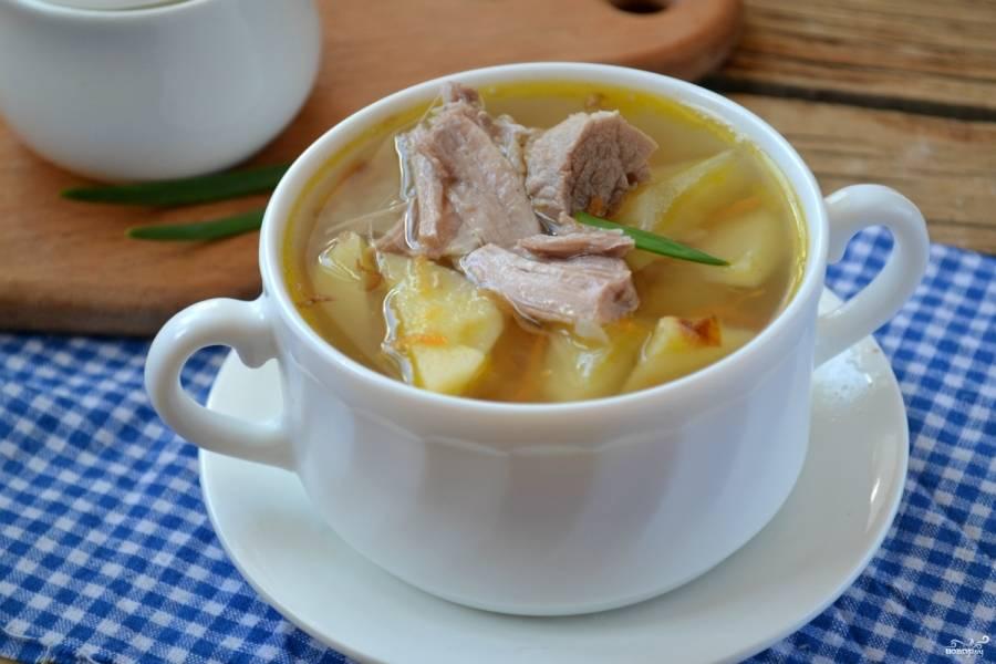 Суп из утки готов. Приятного аппетита!