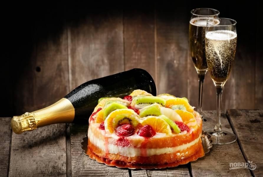 Всем шампанского! 10 рецептов закусок и десертов с игристым