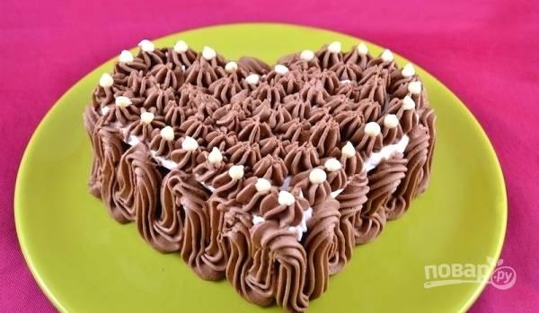 """Тортик  """"Безе в шоколаде"""""""