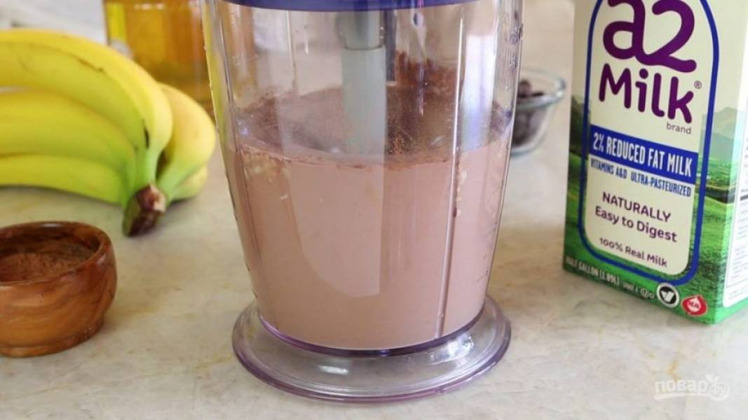 3. Взбейте ингредиенты до единой консистенции.