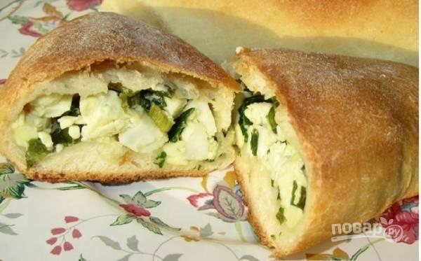 Пирожки с яйцом и зеленым луком (простой рецепт)