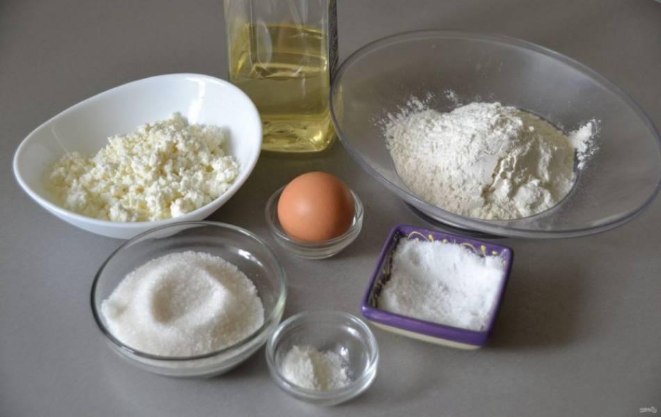 Подготовьте ингредиенты для приготовления хвороста.