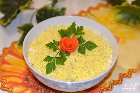 Салат из редьки с майонезом