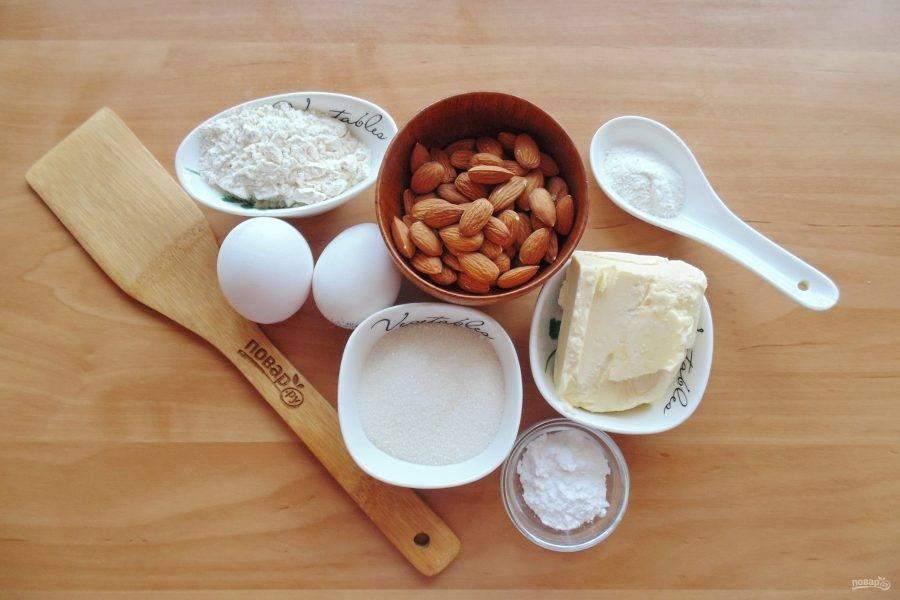 Подготовьте ингредиенты для приготовления краковского печенья.