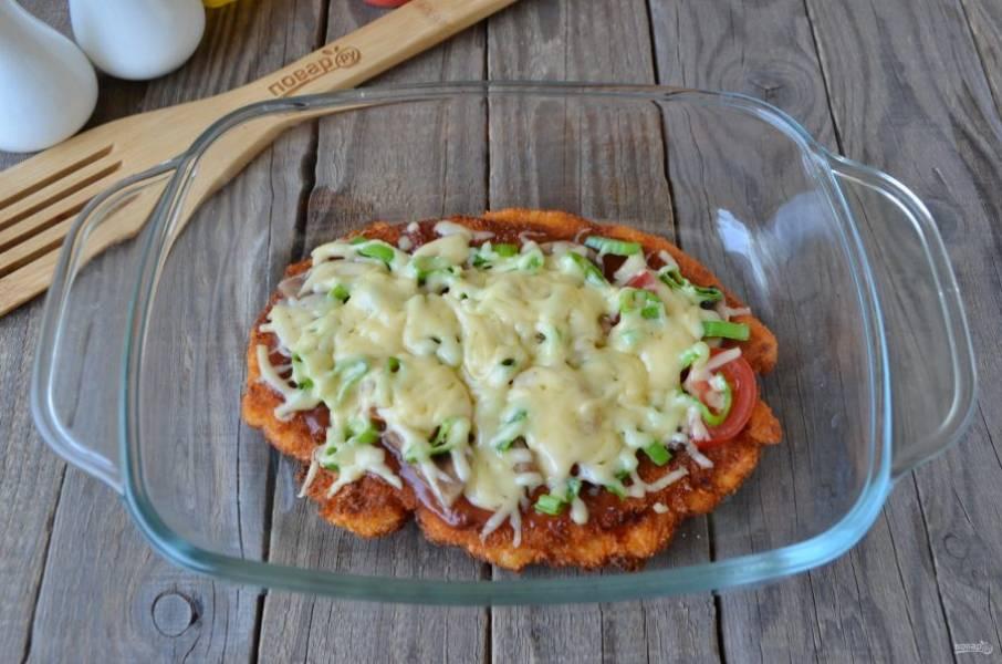 Пицца готова! Угощайтесь!