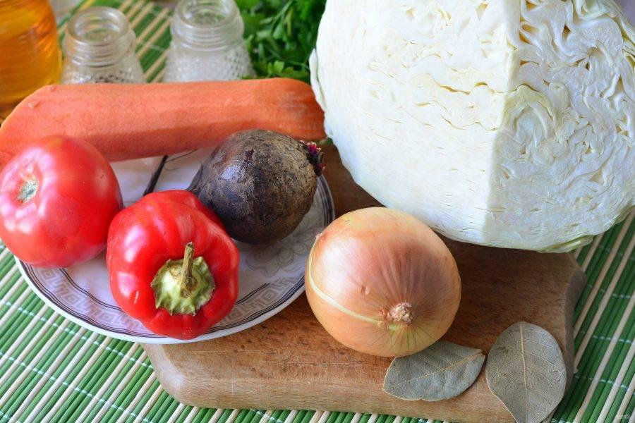 Подготовьте ингредиенты для приготовления холодного борща.