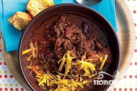 Жаркое из говядины с помидорами и фасолью