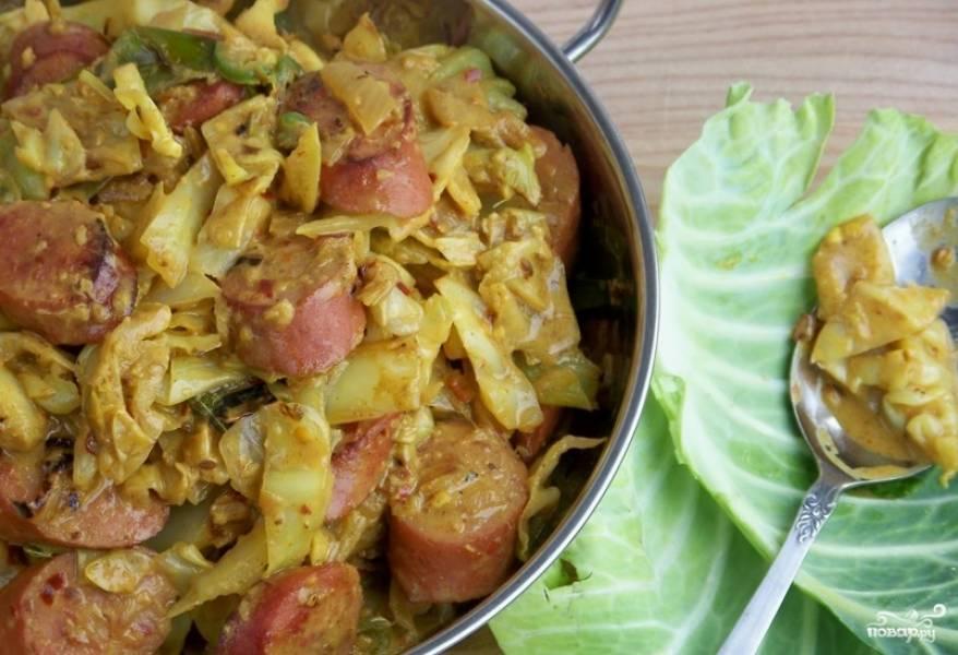 Тушеная капуста по немецки рецепт с фото