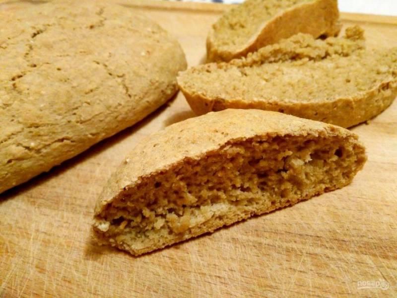 Дайте готовой выпечке остыть, после чего наслаждайтесь вкусным и полезным домашним хлебом!