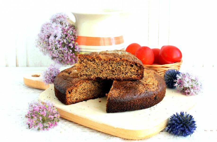 Сливово-медовый пирог с маком