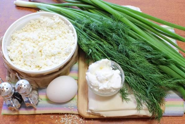 1. Этот простой рецепт вертуты с творогом и зеленью смело можно назвать выпечкой на скорую руку.