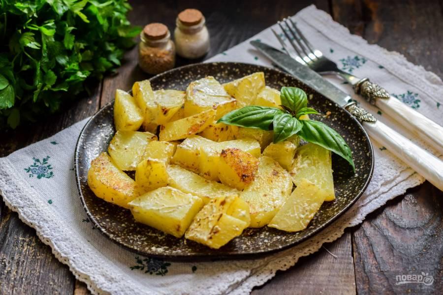 Картошка в сметане в микроволновке