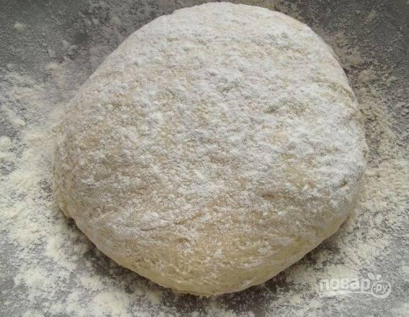 2. Замесите тесто, накройте его чистым полотенцем и оставьте на часик примерно.