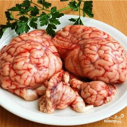 Теперь приступаем к мозгам. Сперва их нужно хорошенько промыть.