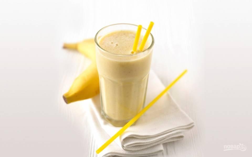 Банановый смузи с медом
