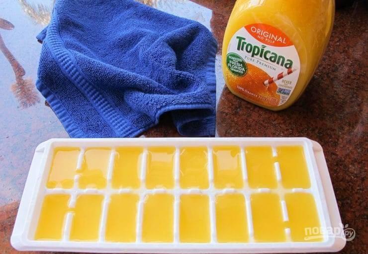 1. Заранее заморозьте пюре в морозильнике в течение 8 часов.