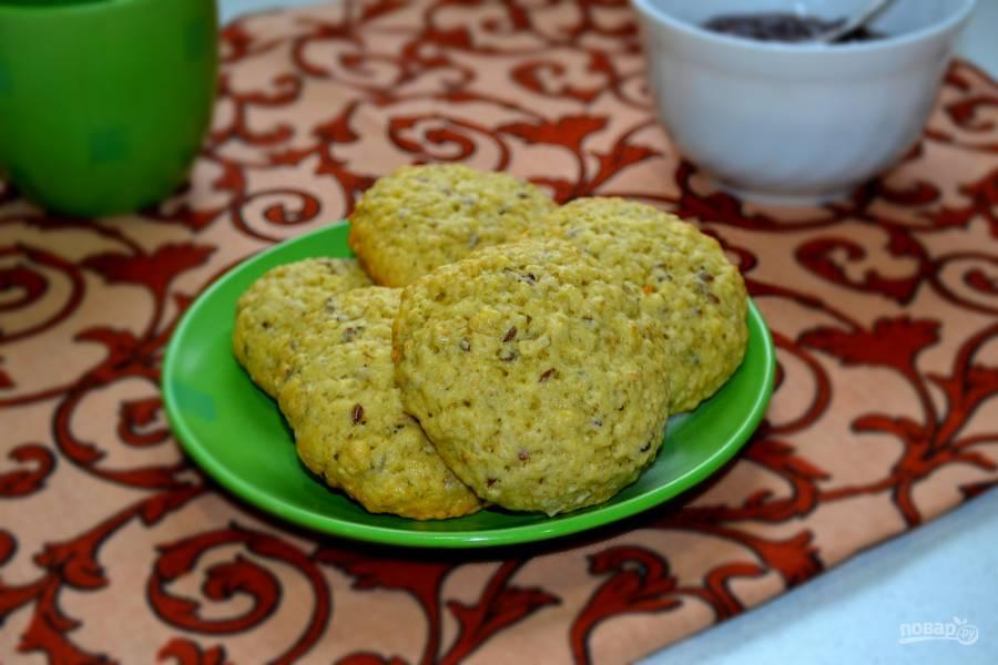 Овсяное печенье с льном