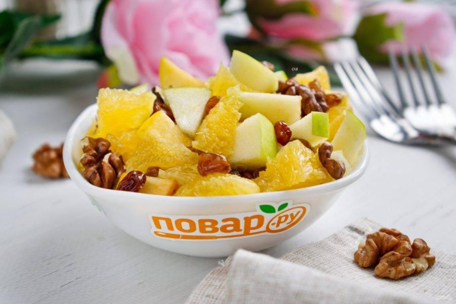 Соедините все ингредиенты, посолите и поперчите по вкусу. Приятного аппетита!