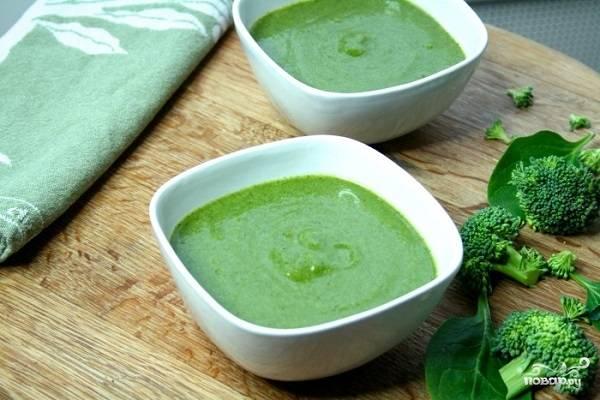 Суп-пюре из брокколи со шпинатом