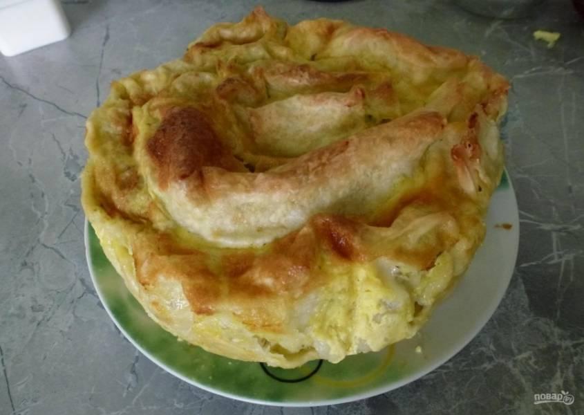 10.Достаю блюдо из формы, перекладываю его на тарелку, приятного аппетита!