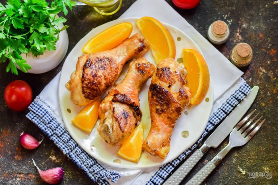 Куриные ножки с апельсинами в духовке