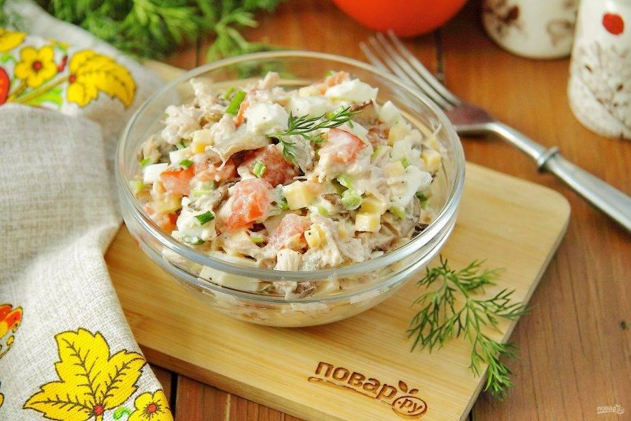 Подавайте порционно или в общем салатнике. Приятного аппетита!