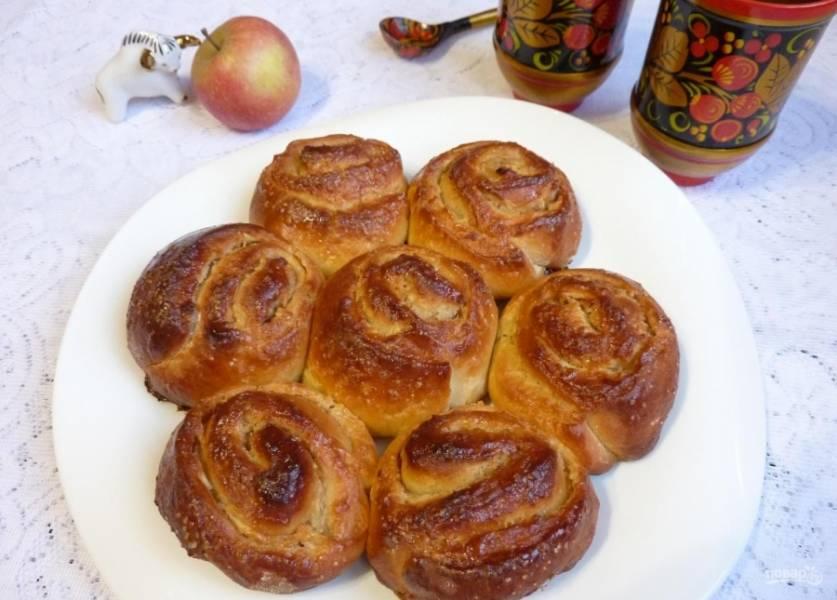 17.Готовые булочки получаются мягкими, пышными и аппетитными, с приятным ароматом.
