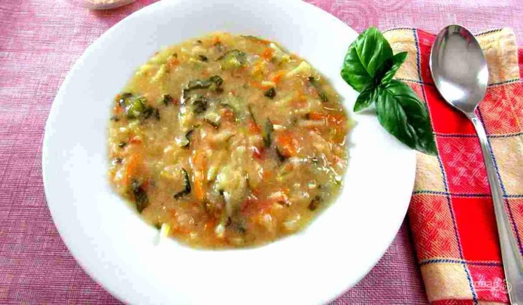 Зимний суп из овощей