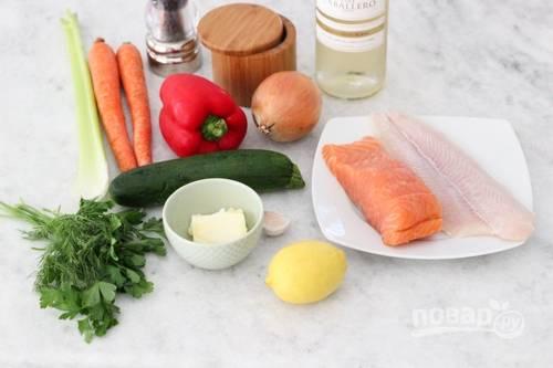 1. Вот такой аппетитный набор ингредиентов вам потребуется, чтобы повторить рецепт на своей кухне.