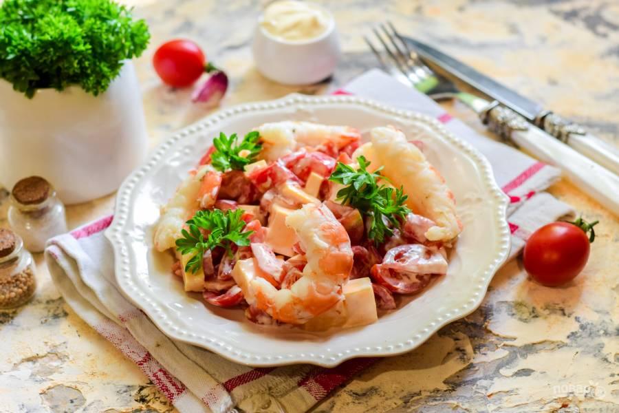 """Салат """"Красное море"""" с креветками"""
