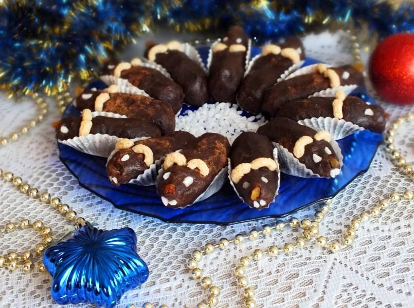 Пирожное без выпечки на Новый год Крысы
