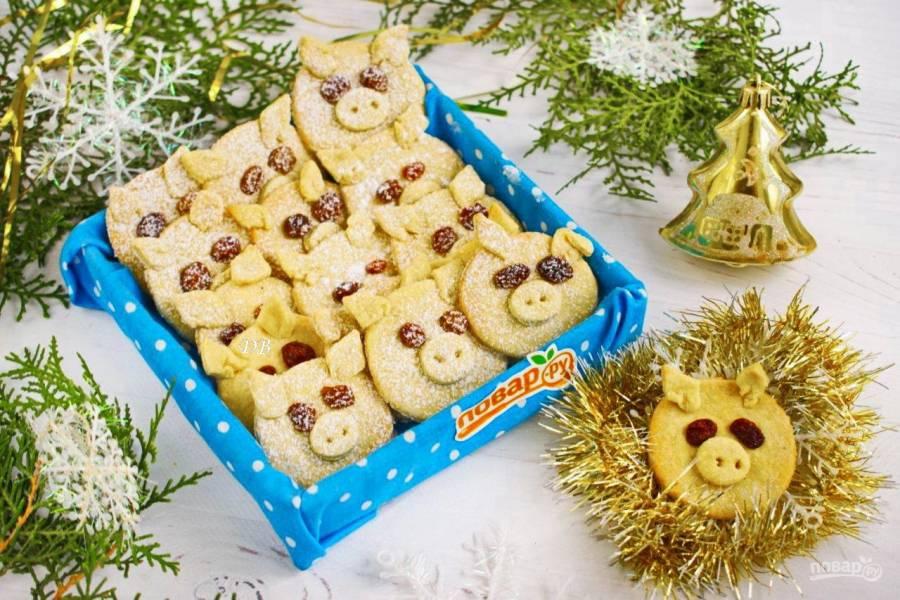 """Новогоднее печенье """"Хрюшки"""""""