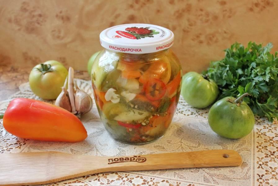 Салат из зеленых помидоров по-грузински