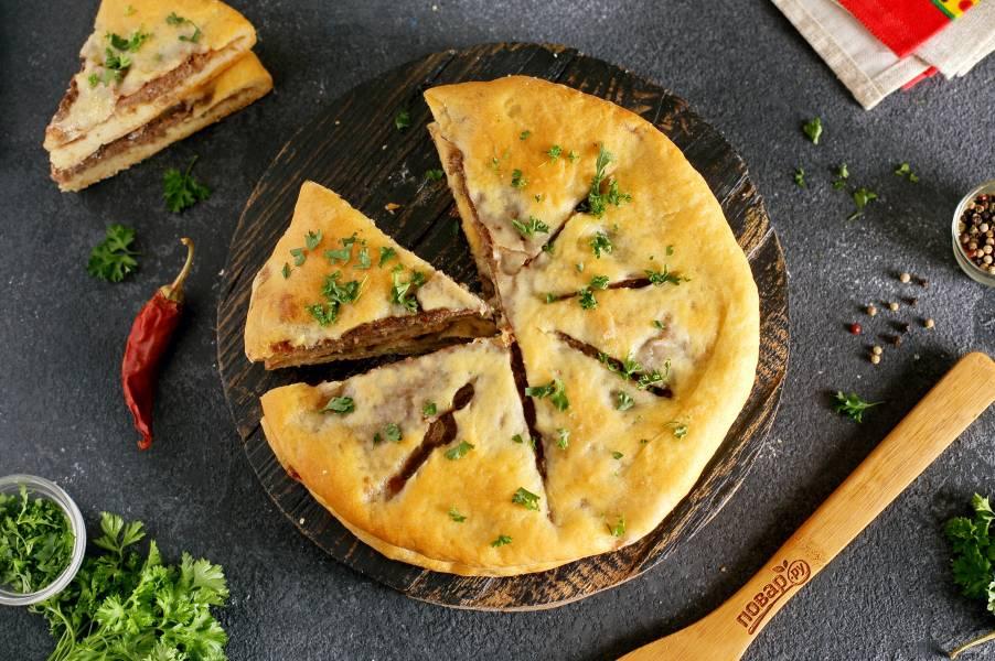 Мясной осетинский пирог